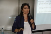 A palestrante, Carla Vasconcelos, apresenta ferramentas para serem usadas no controle da mastite bovina