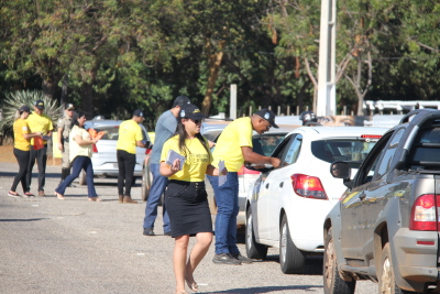 Foram abordados cerca de 3 mil condutores na blitz educativa voltada aos visitantes e expositores da Agrotins
