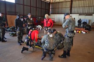 Do Corpo de Bombeiros, o capitão Rafael Menezes coordena os trabalhos da modalidade Salvamento em Altura