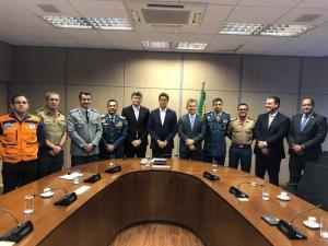 Comandantes-gerais durante reunião com ministro do Meio Ambiente, Ricardo Salles