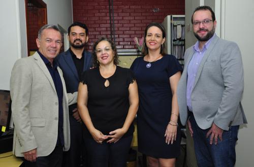 Secretário e Equipe de diretores do Plansaúde, Infoway e superintendência de benficios ao cidadão
