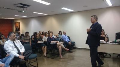 O diretor de Auditoria  e Fiscalização, Augusto de Souza Pinheiro Júnior,  ministrou o curso