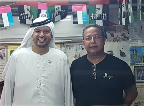Tom Lyra e Abdul Laal  Nazari, durante encontro em Dubai