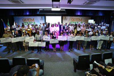 No evento teve ainda o lançamento oficial do Selo: Quem Educa, Faz.