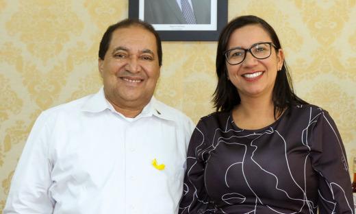 Messias Araujo e a prefeita de Palmeiras dpo Tocantins, Nalva Braga
