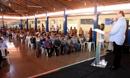 A cerimônia de abertura foi no Colégio Estadual Professor Aureliano, com a presença de prefeitos, vereadores e representantes da sociedade de oito cidades