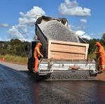 A recuperação está sendo feita com a construção de um novo pavimento
