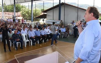 Governador Mauro Carlesse na cerimônia de abertura da terceira consulta pública para elaboração do Plano Plurianual 2020/2023
