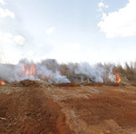 Nesses encontros foram planejados os mapas de queima e aceiros de trechos de rodovias próximas à região da APA, bem como apresentada às técnicas do manejo do fogo