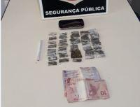 Porções de drogas apreendidas pela Polícia Civil em Miracema do Tocantins