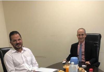 Procurador-Geral Nivair Borges e o corregedor Deocleciano Gomes