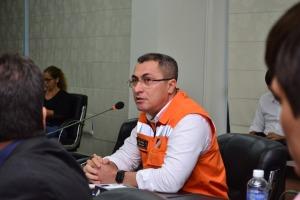 Foto 03: Coordenador-adjunto da Defesa Civil, Geraldo Primo ressalta a necessidade dos empreendedores elaborarem os PAE para que os municípios elaborem os planos de contingência