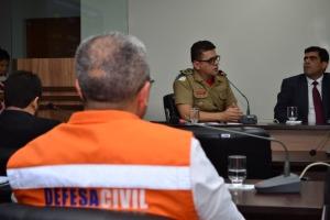 Foto 02: Para o chefe do Estado Maior dos Bombeiros, coronel Carlos Eduardo Farias, é importante a participação da Defesa Civil no Coema e no CERH