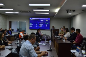 Foto 01: Órgãos, instituições e profissionais técnicos durante audiência que discutiu a segurança de barragens no Estado