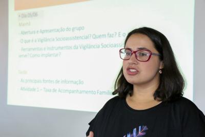 Representante do Ministério da Cidadania, Cintia Barros dos Santos