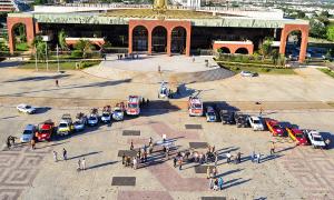 Foi disponibilizado o total de 42 veículos e helicóptero para fazerem as visitas nas zonas rurais de Palmas, Araguaína e Gurupi