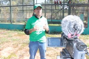 Gestor do Naturatins grava entrevista para vídeo de divulgação do Cefau para ONGs internacioanais