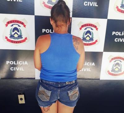 Acusada de homicídio descumpria medida cautelar foi presa - Divulgação SSP.jpeg