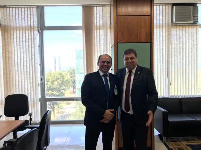 César Halum com o vice-ministro ddo Mapa, Marcos Montes
