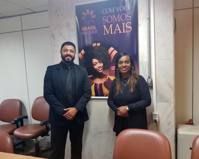 Secretário Executivo da Setas foi recebido pela Secretária Nacional de Políticas para Mulheres Eronildes Vasconcelos
