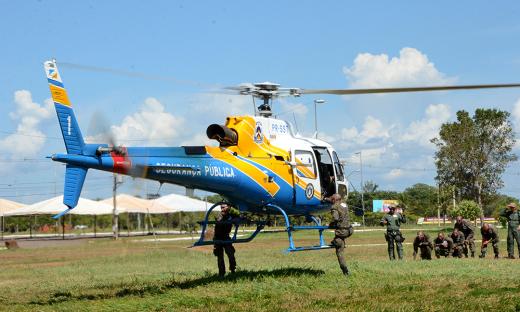Treinamento aéreo no I Curso de Operador Aerotatico do Tocantins