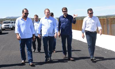 Governador vistoriou a ponte de Porto Nacional que passa por uma recuperação visando possibilitar a liberação de tráfego de veículos leves