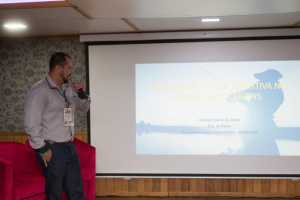 O gerente de Pesca e Aquicultura, do Instituto de Desenvolvimento Rural do Tocantins (Ruraltins), engenheiro de pesca, Andrey Costa, representou o Tocantins no 1º Simpósio da Pesca no Pantanal
