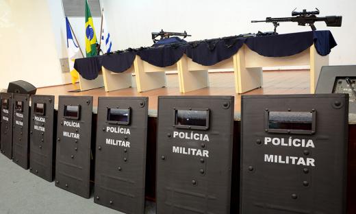 Os novos escudos foram adquiridos por meio de convênio com o INEP; foram investidos cerca R$ 874 mil na compra dos novos equipamentos
