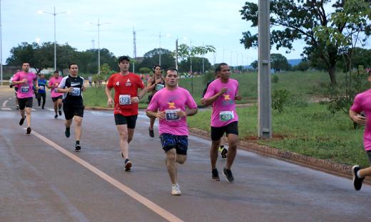 Atletas tocantinenses durante a prova da Meia Maratona do Tocantins
