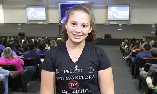 Para aluna, a dinâmica da professora Marilene Pereira faz toda diferença na aprendizagem