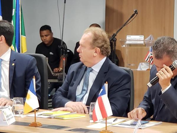 Governador Mauro Carlesse, cumpre agenda em Brasília nesta terça-feira, 11, onde participa do V Fórum de Governadores