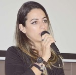Caroline participou da primeira exposição dialogada, com o tema A Política Nacional de Atenção Básica e a Estratégia de Saúde da Família para o Fortalecimento da Atenção Primária no Tocantins
