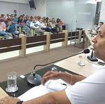 Presidente da Jucetins, Gleydson Nato, fala para auditório lotado