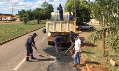Equipe está realizando serviços no perímetro urbano de Porto Nacional