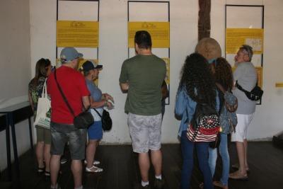 Pesquisadores em vista ao Museu de Natividade para conhecer a história do monumento