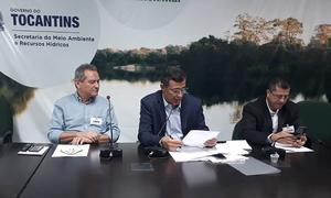 Secretário de Meio Ambiente e Recursos Hídricos, Renato Jayme, que é presidente do CERH, abre a reunião