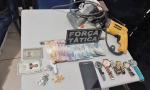 Drogas e objetos apreendidos pela PM em Palmas