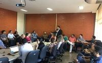 A capacitação foi realizada na sala de reuniões da Secretaria da Fazenda e do Planejamento