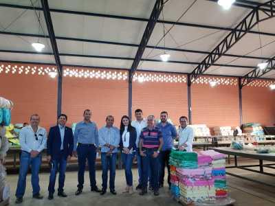Equipe do Governo em visita ao Polo de Confecções de Inhumas