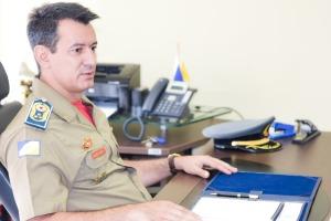 O comandante do Corpo de Bombeiros Militar, coronel Leandro, destaca o protagonismo da instituição