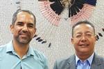 Robson Ferreira e Tom Lyra, durante encontro na sede da Adetuc