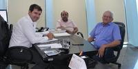 Visita do prefeito de Filadélfia (TO) ao gabinete do secretário da Infraestrutura, Renato de Assunção