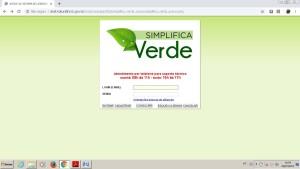 Página da Plataforma Simplifica Verde, para emissão de documentos on line