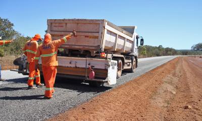 Asfalto novo na rodovia TO-070 de Porto Nacional a Brejinho de Nazaré