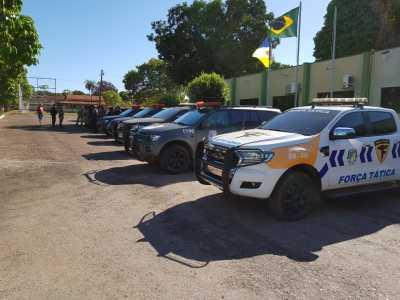 Equipes da CIOE, BPCHOQUE, 7º BPM, 3º BPM, 3ª CIPM e CIOPAER reforçam o patrulhamento em Guaraí