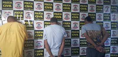 Três integrantes de facção criminosa são presos na Operação Place de Grève da Polícia Civil que investiga decapitação em Divinópolis-TO