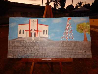 Exposição de quadros feitos por estudantes do Colégio Dom Alano de Peixe