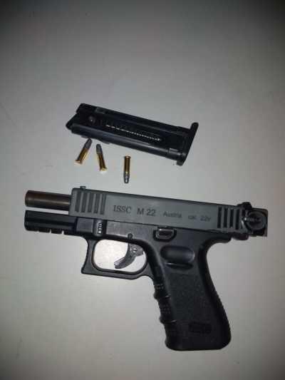 Arma apreendida com suspeito em Talismã
