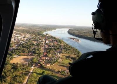 Aeronave da Segurança Pública sobrevoa cidade da região Centro-Norte