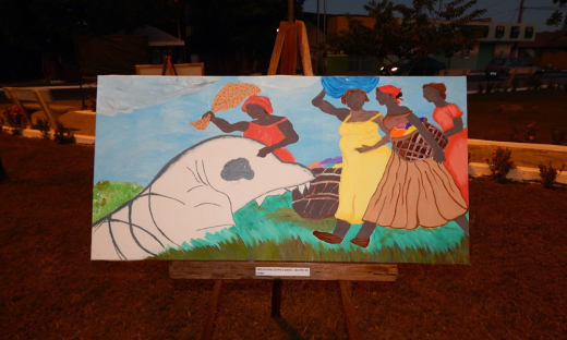 A história do município de Peixe saiu da oralidade para as telas pintadas pelos estudantes do Colégio Estadual Dom Alano